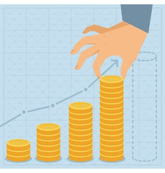 financial business plan vector image vector image