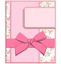 Flower card set vector