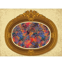 frame floral2 vector image vector image