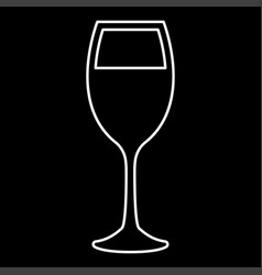 glass of wine it is icon vector image