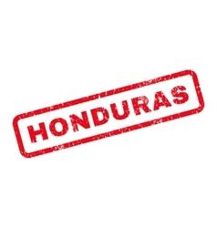 Honduras text rubber stamp vector