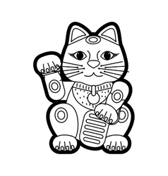 Maneki neko lucky cat vector