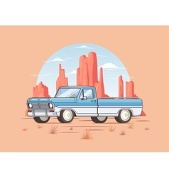 Off road pickup truck template vector