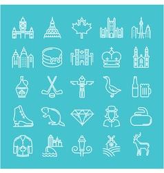 Ottawa line icons 6 2 vector