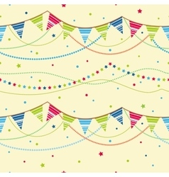 Party pennant bunting seamless background vector