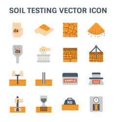 Soil testing icon vector