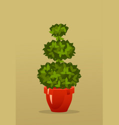 Tree in a pot vector