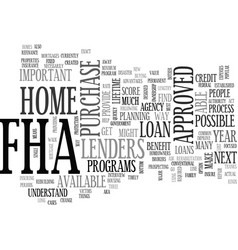 why bother with fha text word cloud concept vector image vector image