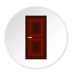 Wooden interior door icon flat style vector