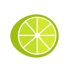 Lime in flat style design vector
