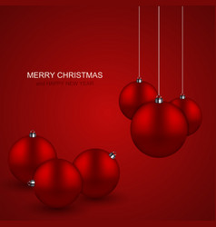 Modern red christmas balls background xmas vector