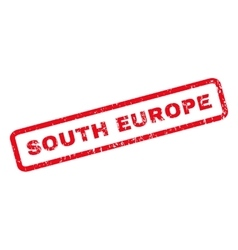 South europe rubber stamp vector