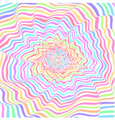 Colorful expanding ripples vector