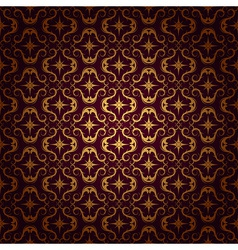 ornaments background red vector image