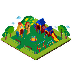 3d design for playground vector image