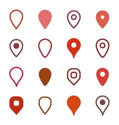 Set of map markers vector image