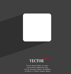 Stop button icon symbol flat modern web design vector