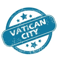 Vatican city round stamp vector