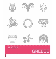 Greece icon set vector