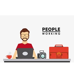 People working design vector