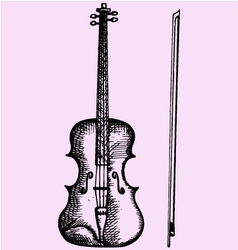 Violin bow vector