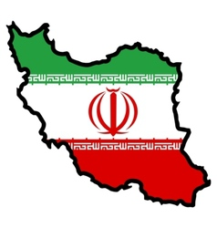 Map in colors of iran vector