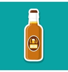 Beer design over white background vector