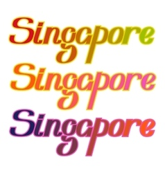 Singapore colorful letters title vector