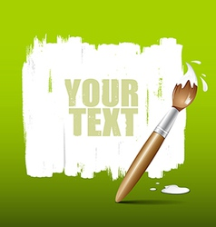 Paint brush green background vector image