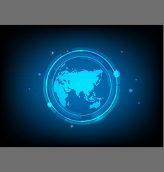 abstract global world circle digital technology vector image