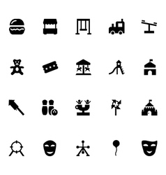 Amusement park icons 1 vector