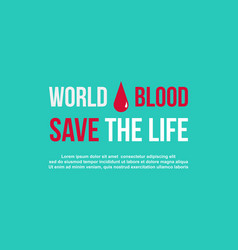 Banner world blood donor day style collection vector