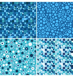 blue patterns vector image vector image