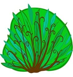 Cartoon Bush Isolated vector image