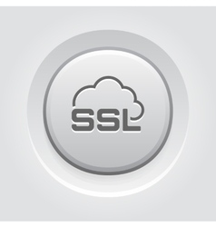 Cloud security icon flat design vector