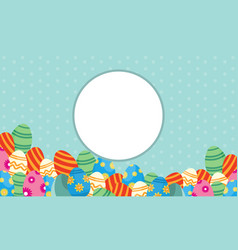 Collection of frame easter theme vector