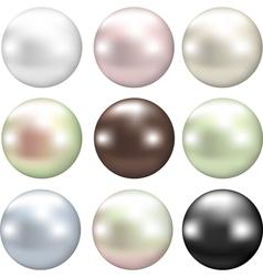 color pearls vector image vector image