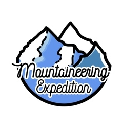 Color vintage mountaineering emblem vector