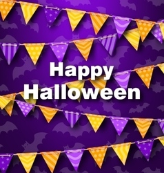 Colorful hanging for triangular string halloween vector