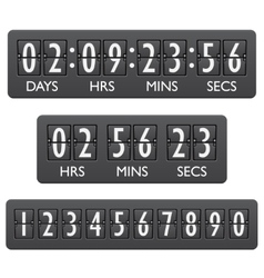 Countdown timer emblem vector image