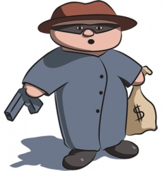 criminal vector image