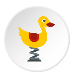 Duck spring see saw icon circle vector