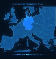 Europe abstract map germany vector