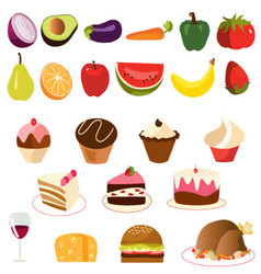 food-set- vector image