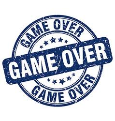 Game over blue grunge round vintage rubber stamp vector