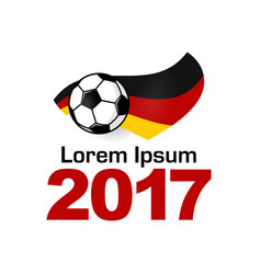 germany football sport icon vector image
