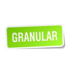 Granular square sticker on white vector