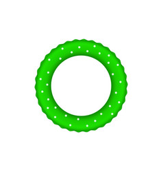 Green pool ring with white dots vector