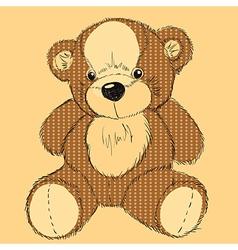 Hand drawn teddy bear vector image vector image
