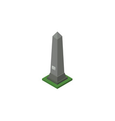 Isolated washington monument isometric dc vector
